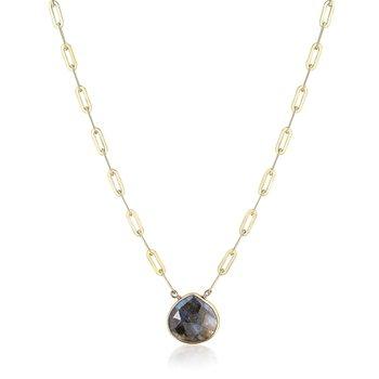 Ara | Flat Rectangle Necklace