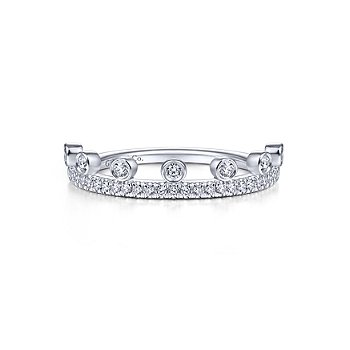 Diamond Crown Stackable Ring