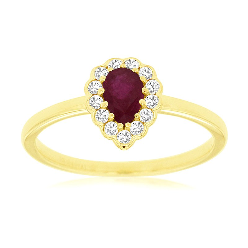 Lauray's Signature Collection Yellow Gold Ruby Ring