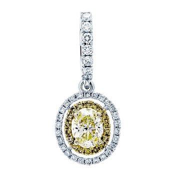 White Gold Yellow Diamond Pendant
