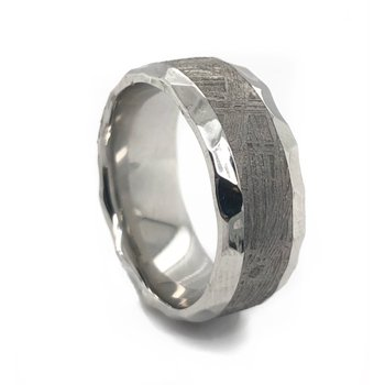 Cobalt Chrome Meteorite Band