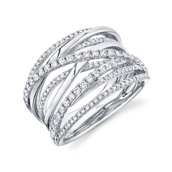 White Gold Diamond Bridge Ring