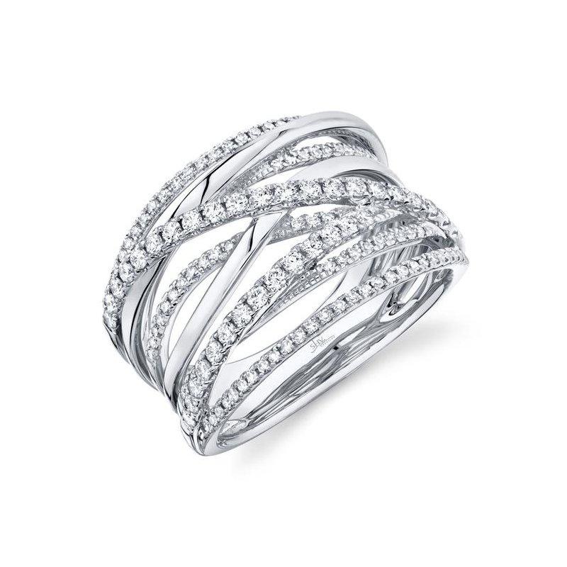 Shy Creation White Gold Diamond Bridge Ring