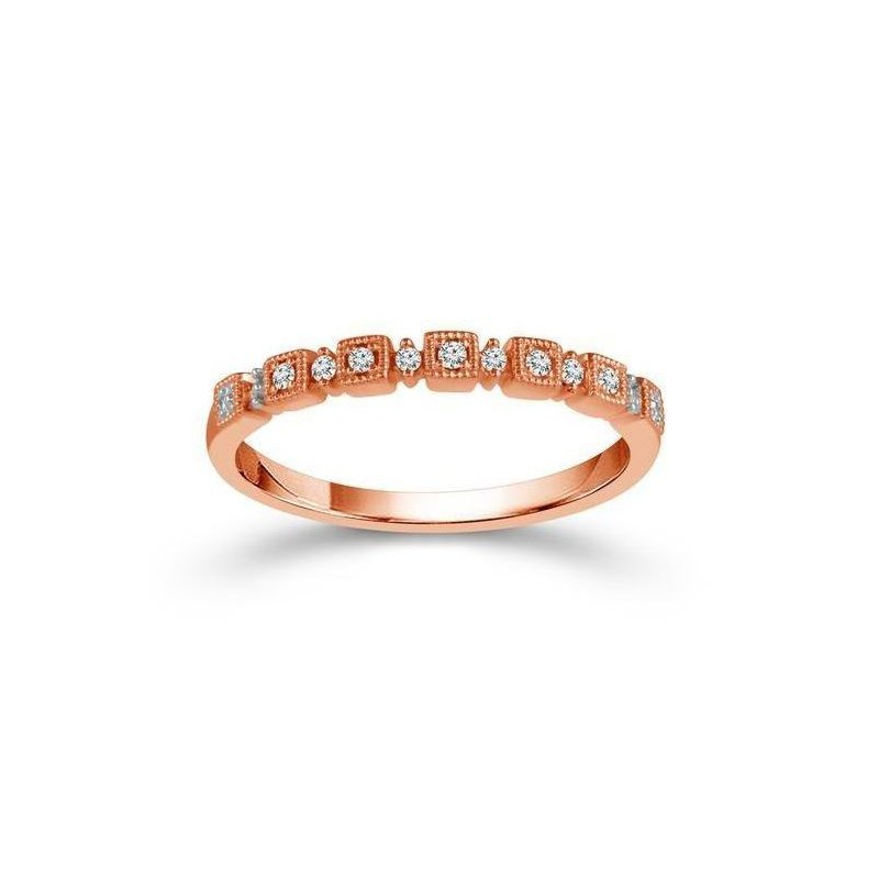 Lauray's Signature Collection Rose Gold Stackable Diamond Band