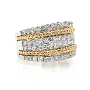 Two Tone Gold Fahion Ring