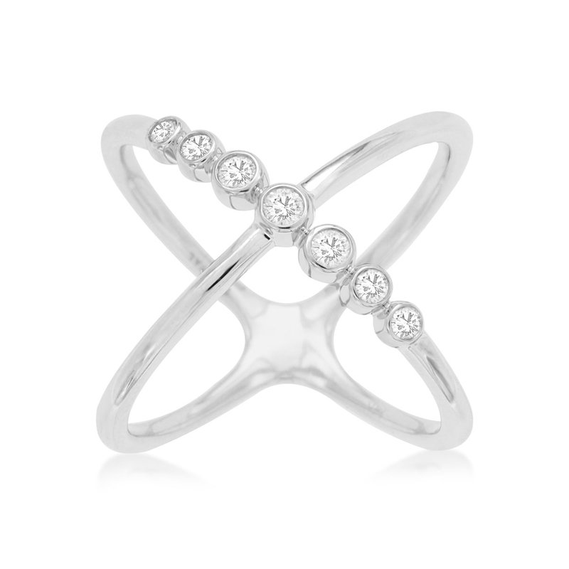 Lauray's Signature Collection White Gold Diamond Fashion Ring