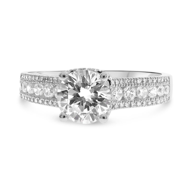 Lauray's Signature Collection Diamond Round Semi Mounting