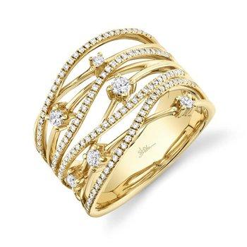 Yellow Gold Diamond Bridge Ring