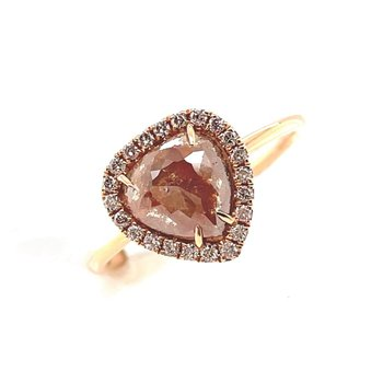 Rose Gold Slice Diamond Fashion ring