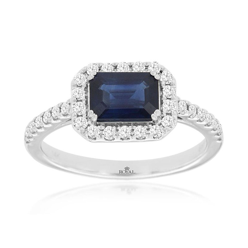 Lauray's Signature Collection White Gold Blue Sapphire Ring