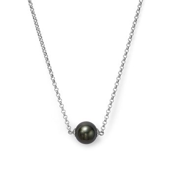 Cultured Tahitian Black Pearl Pendant Necklace