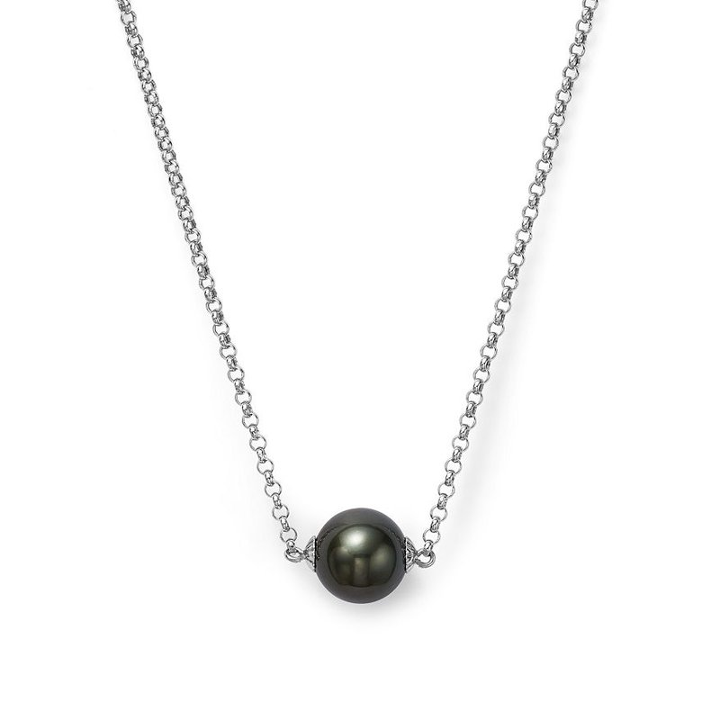 Lauray's Signature Collection Cultured Tahitian Black Pearl Pendant Necklace