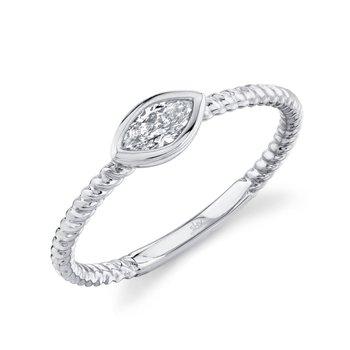 White Gold Marquise Bezel Set Ring