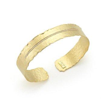 Narrow Diamond Cuff Bracelet