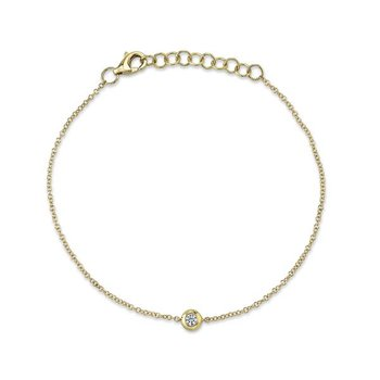 Yellow Gold Diamond Bezel Bracelet