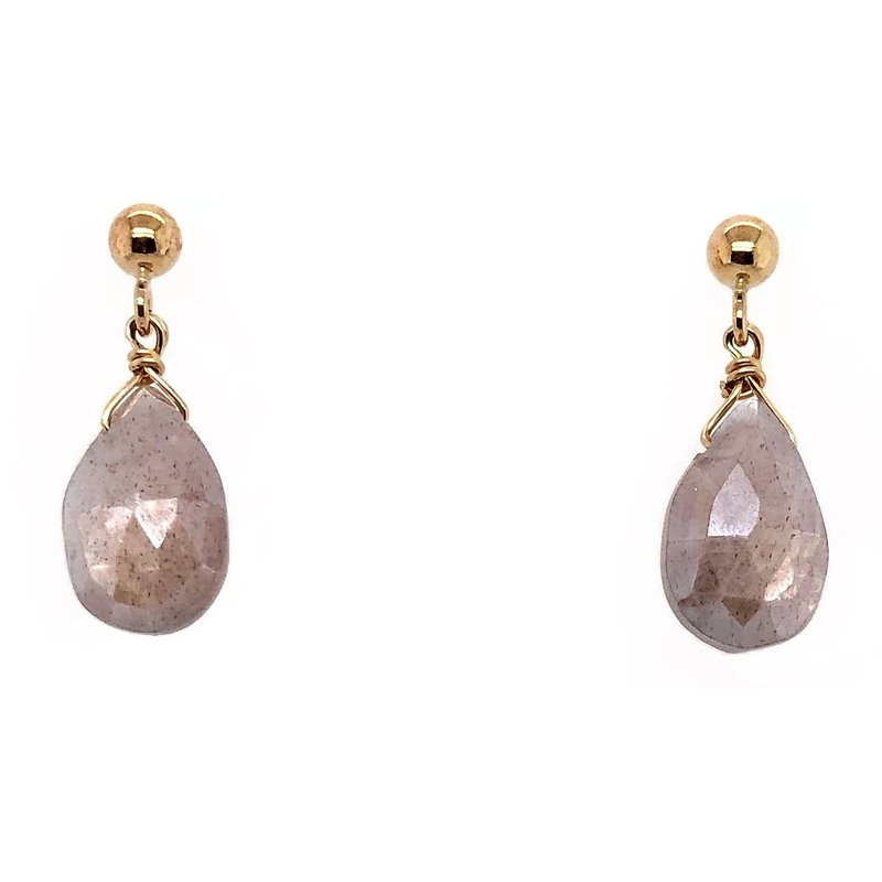 ela rae new york city Brown Moonstone Lori Tear Drop Earrings
