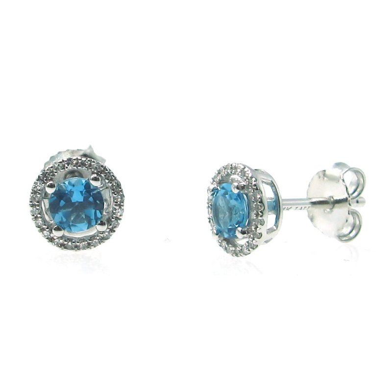Lauray's Signature Collection December Birthstone Blue Topaz Studs