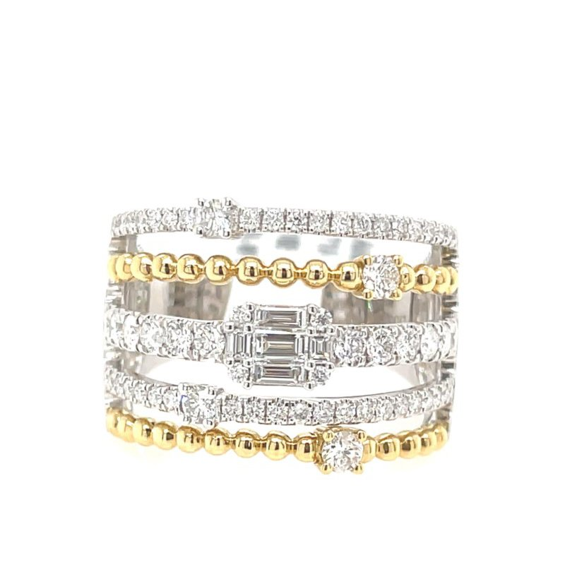 Lauray's Signature Collection Two Tone Diamond Fashion Ring