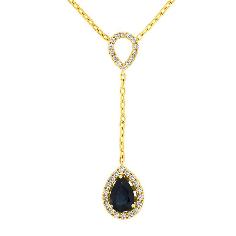 Lauray's Signature Collection Yellow Gold Sapphire Necklace