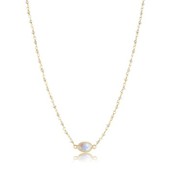 Libi Pearl and Moonstone Necklace