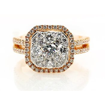 Two-Tone Diamond Ring