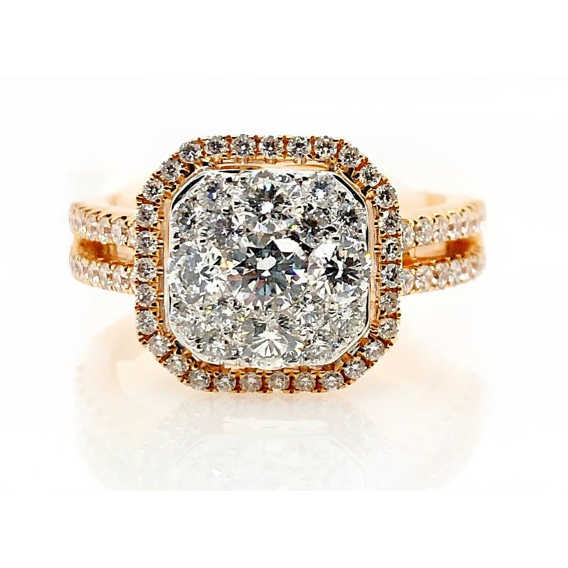 Lauray's Signature Collection Two-Tone Diamond Ring