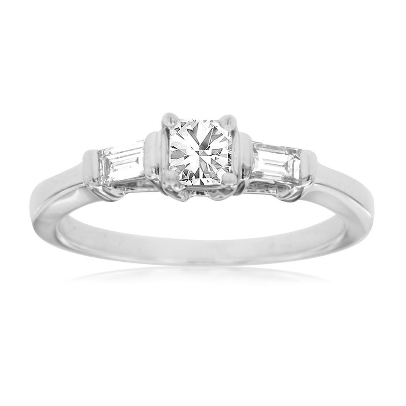 Lauray's Signature Collection White Gold Engagement Ring