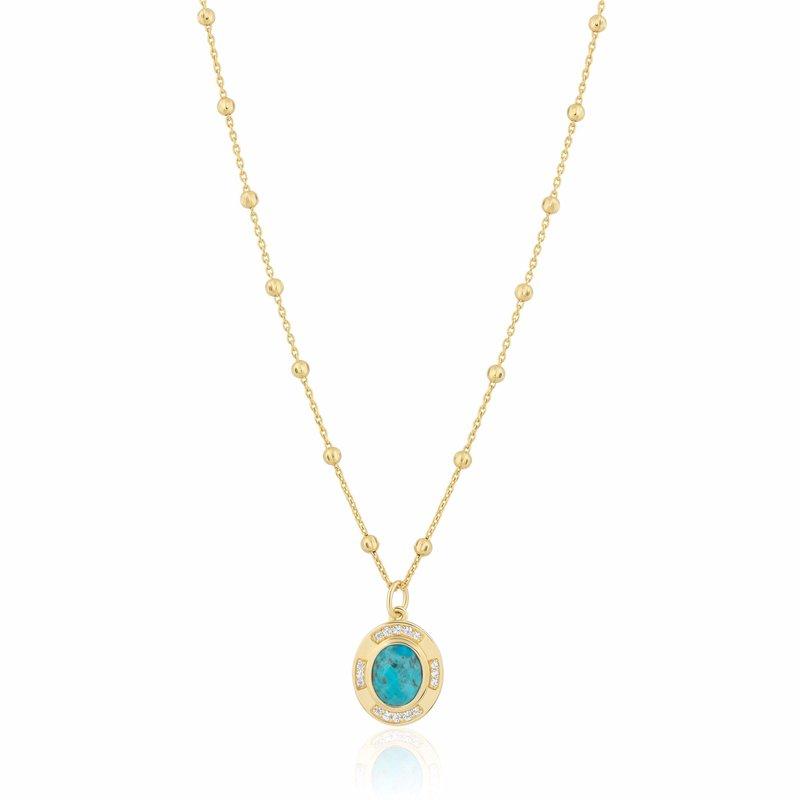 ela rae new york city Turquoise Pendant Necklace