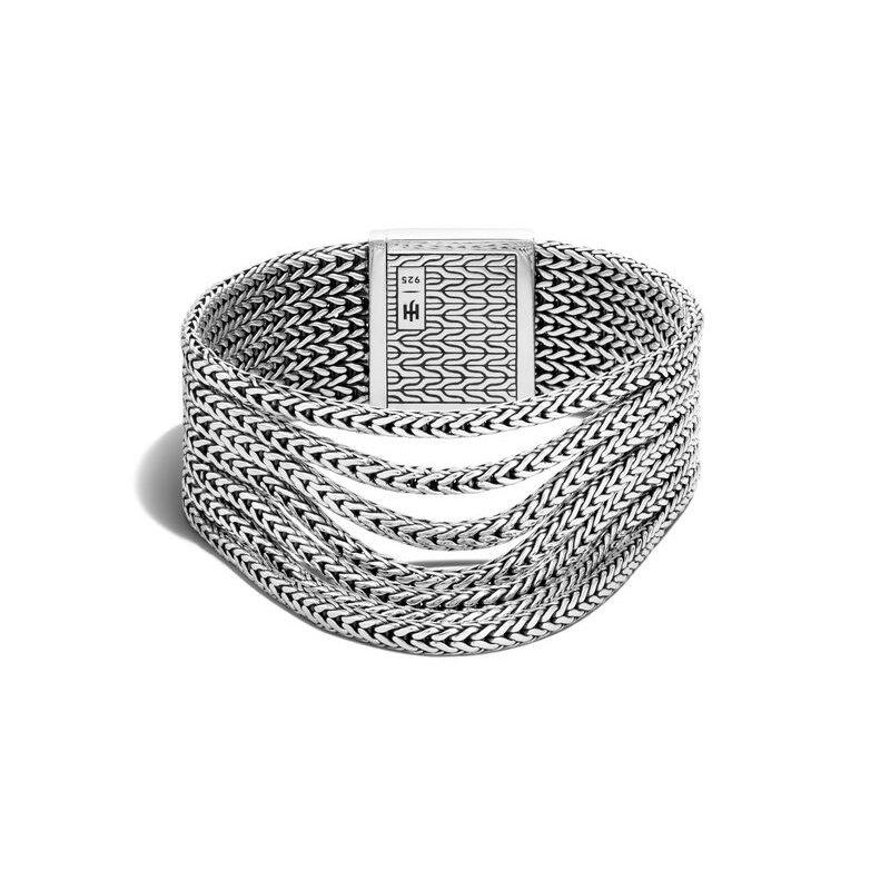 John Hardy Rata Chain Multi Row Bracelet