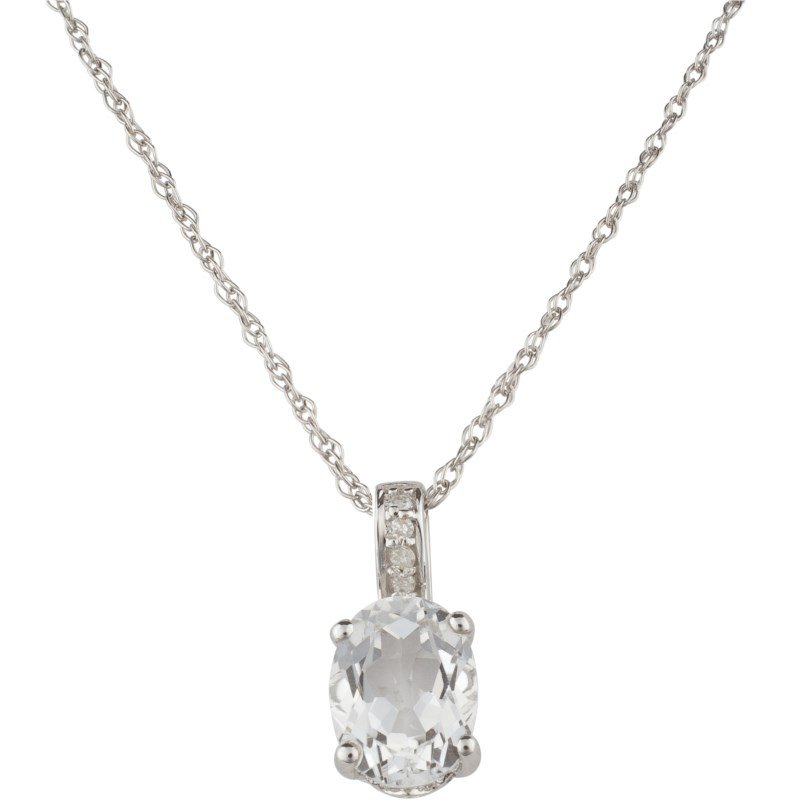 Lauray's Signature Collection White Topaz Birthstone Pendant