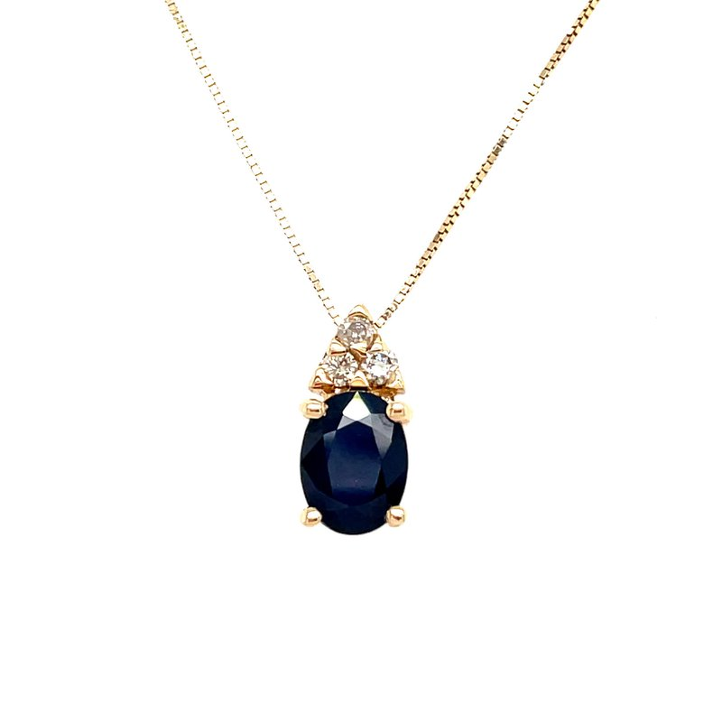 Lauray's Signature Collection Yellow Gold Sapphire and Diamond Necklace