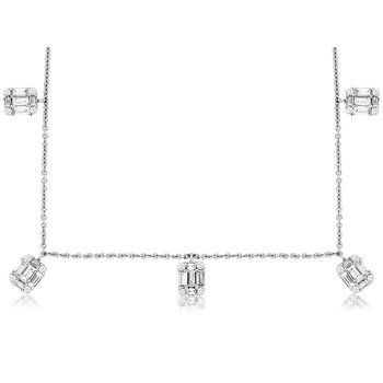 Diaond Station Necklace