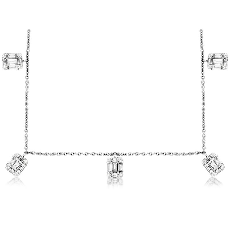 Lauray's Signature Collection Diaond Station Necklace