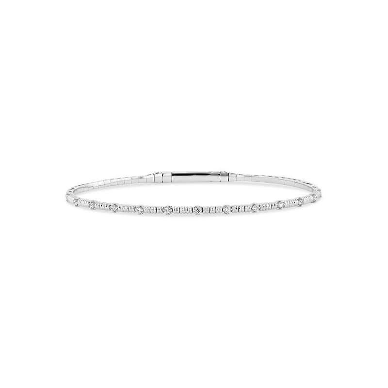 Lauray's Signature Collection White Gold and Titanium Bracelet