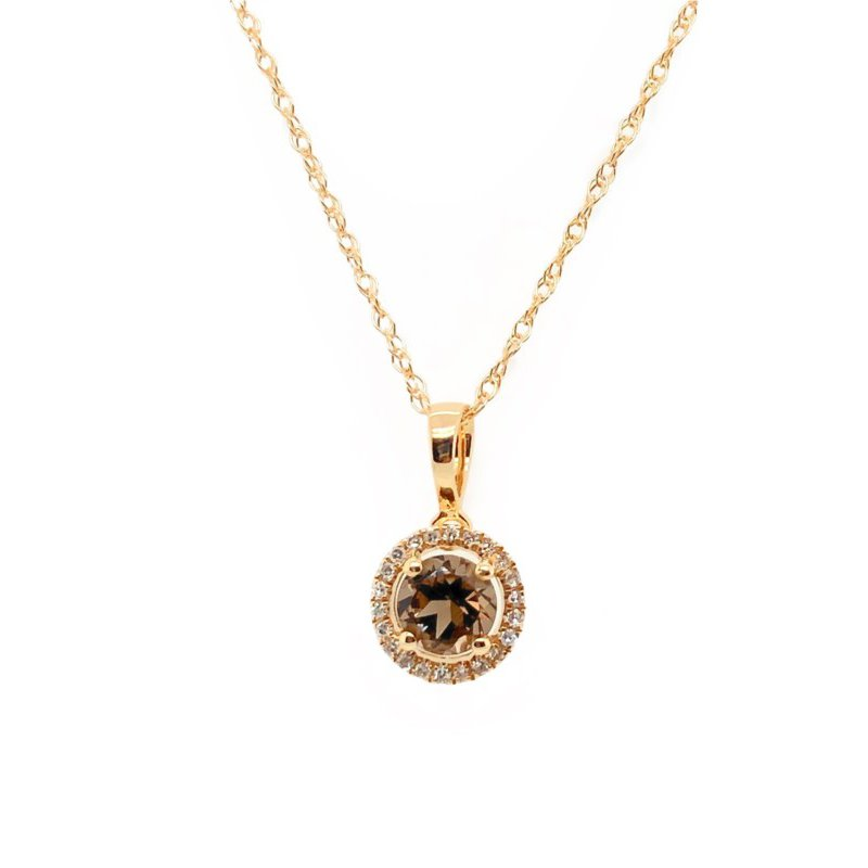 Lauray's Signature Collection June Birthstone Necklace Smoky Quartz