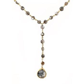 Yaeli Dendrite Opal Necklace