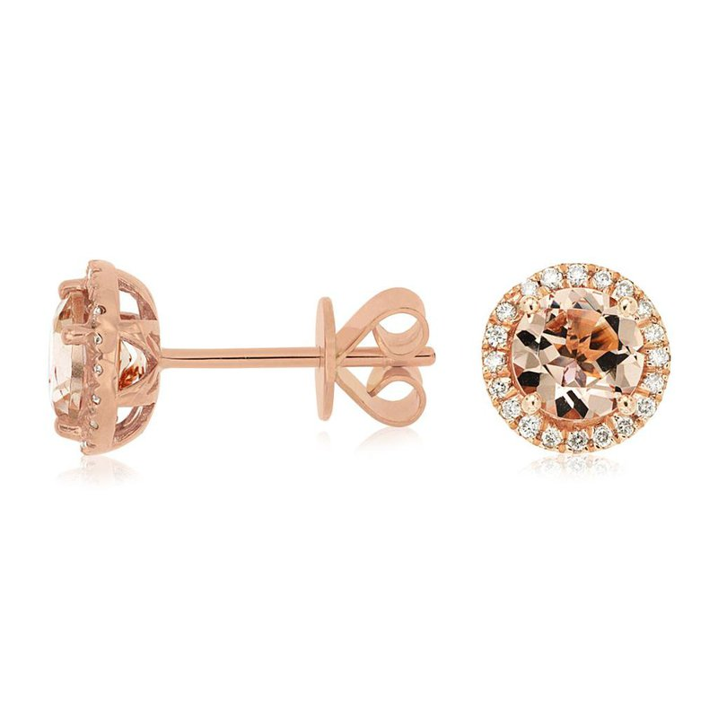 Lauray's Signature Collection Rose Gold Morganite Earrings