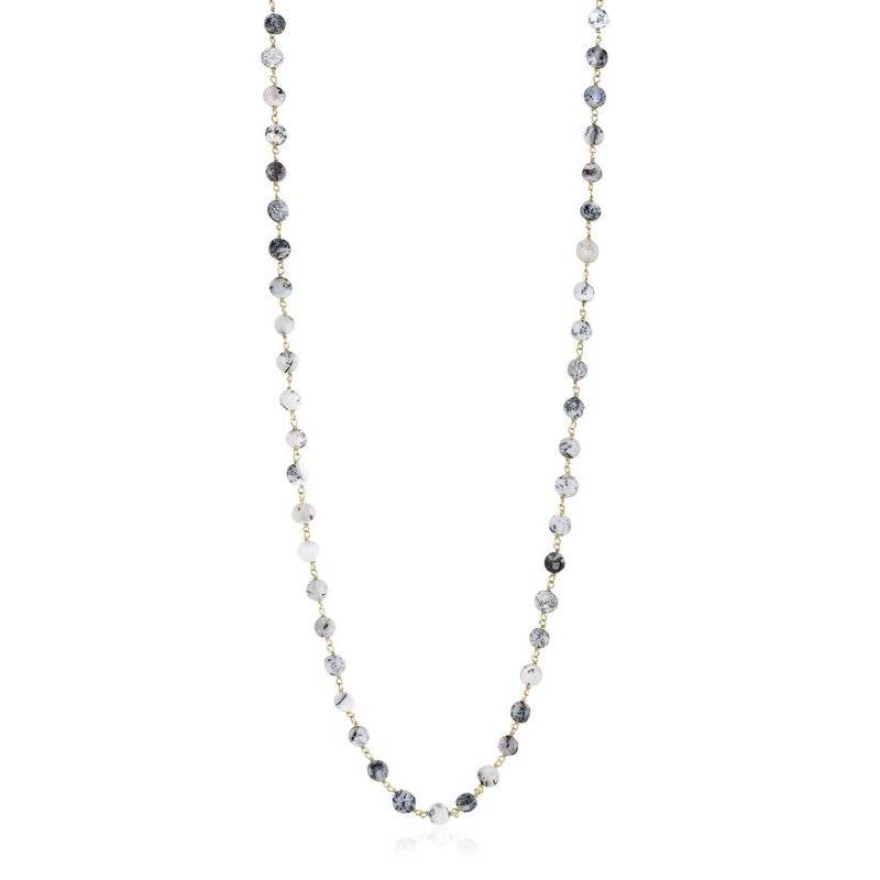 ela rae new york city Coin Shaped Dendrite Opal Necklace