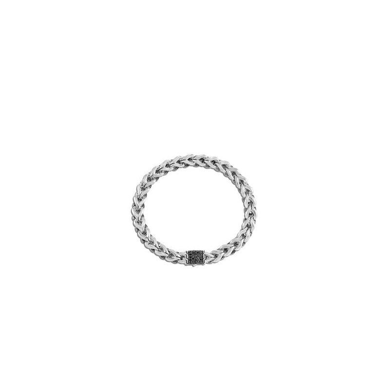 John Hardy Asli Chain Link Bracelet, Black Sapphire