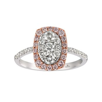 14 Karat Two Tone Diamond Ring