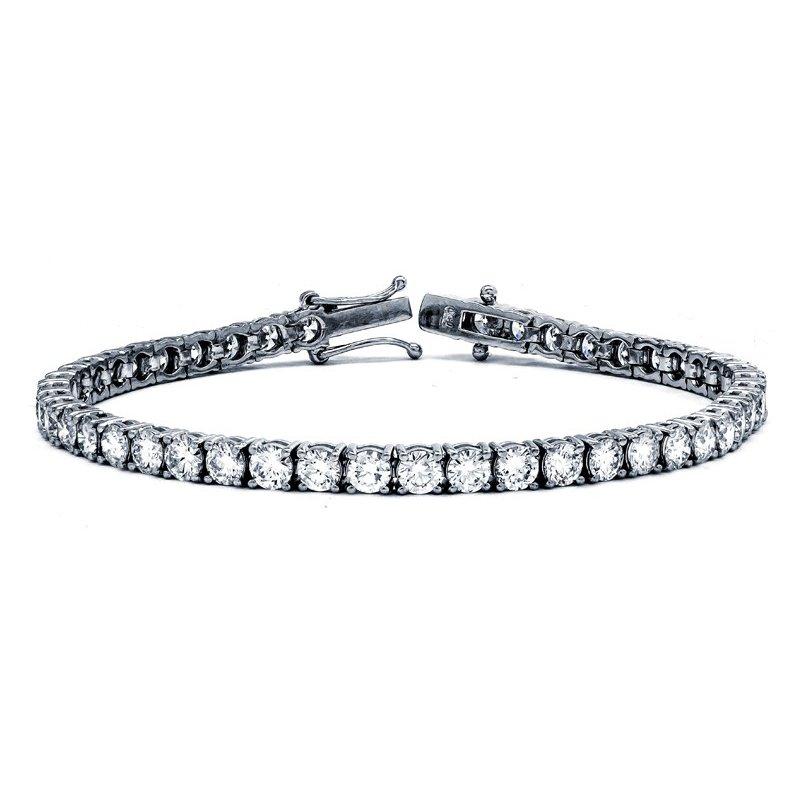 Lauray's Signature Collection White Gold Diamond Tennis Bracelet