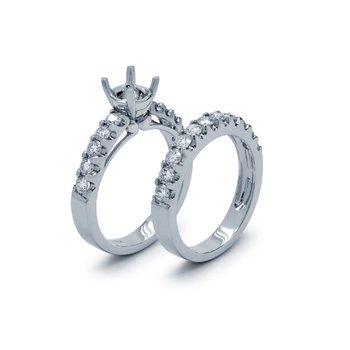 White Gold Diamond Wedding Set