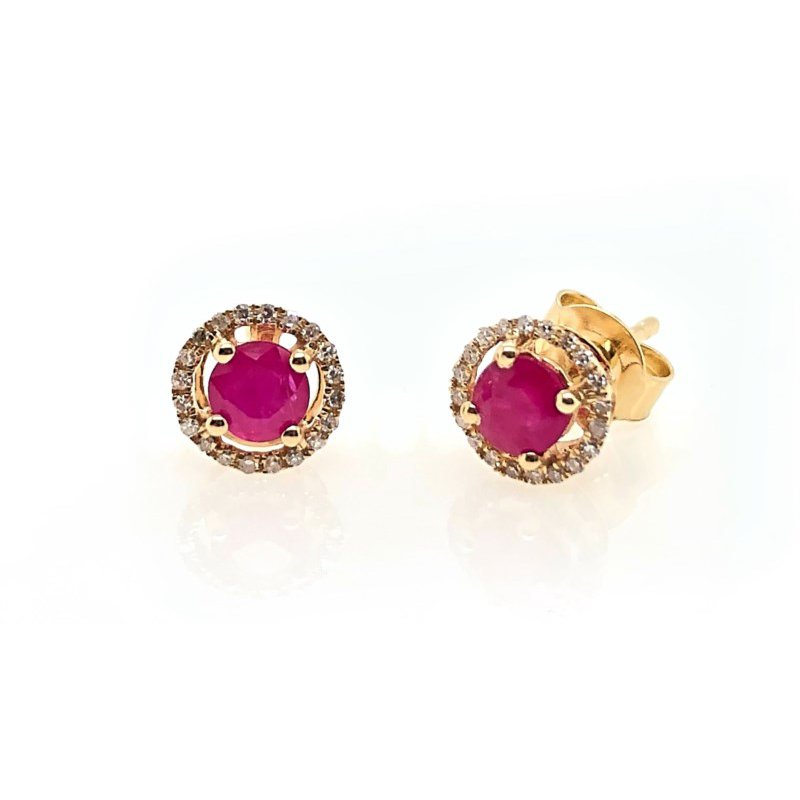 Lauray's Signature Collection July Birthstone Ruby Studs