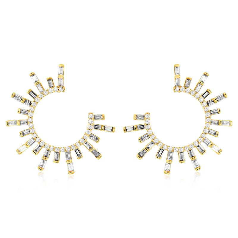 Lauray's Signature Collection Yellow Gold Diamond Earrings