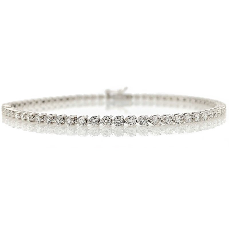 Lauray's Signature Collection White Gold Diamond Tennis Bracelet