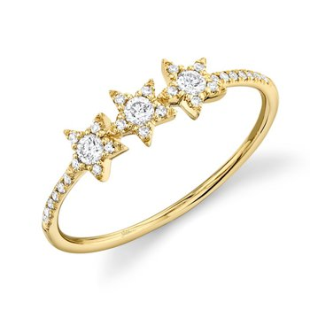 Yellow Gold Diamond Star Ring
