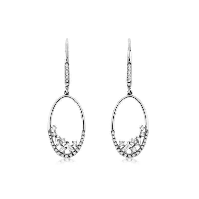 Lauray's Signature Collection White Gold Diamond Earrings