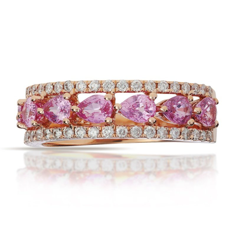Lauray's Signature Collection Pink Sapphire and Diamond Ring
