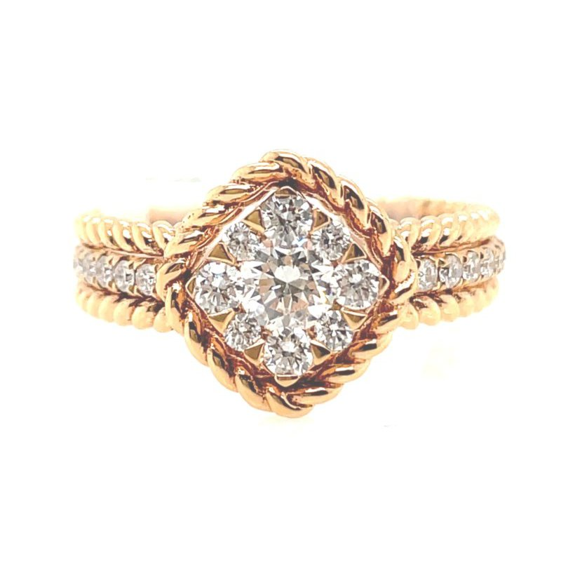 Lauray's Signature Collection Rose Gold Diamond Fashion Ring