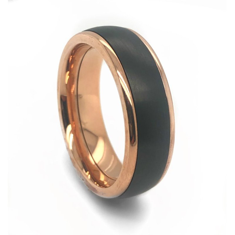 Lauray's Signature Collection Zirconium Rose Gold Band